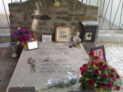 La tumba de antonio machado