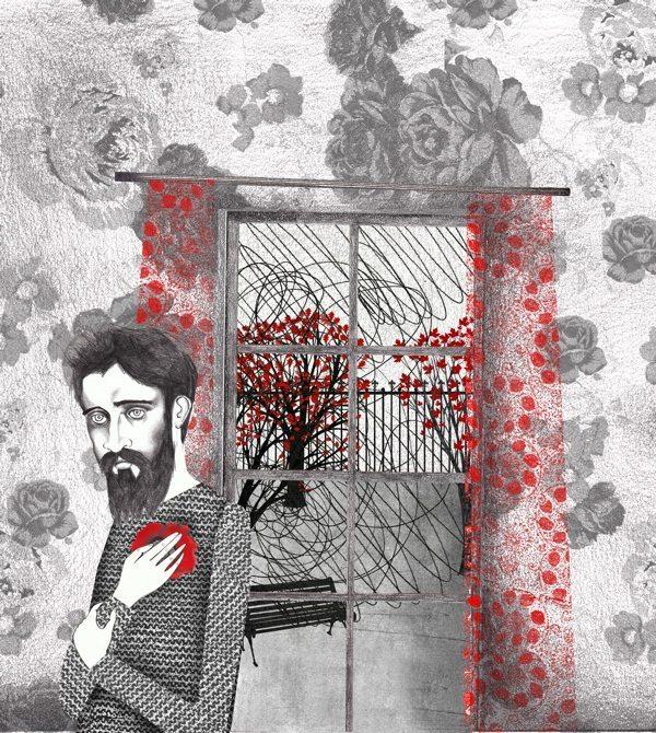 La flor roja, ilustrado por Sara Morante