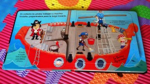 Detalle interior de ¡A bordo del barco pirata!