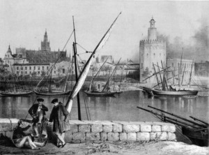 Litografía de Sevilla. Siglo XVIII