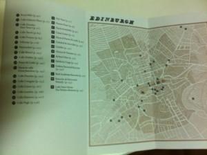 mapa Edimburgo