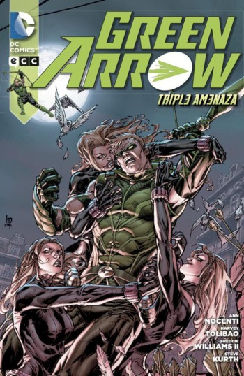green arrow: triple amenaza