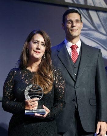 Dolores Redondo, ganadora del Premio Planeta 2016. Marcos Chicot, finalista