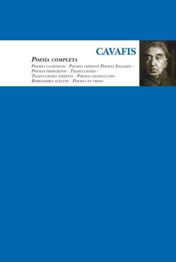 Poesía completa, de Cavafis