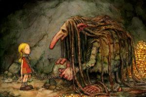 el bosque de los troles ilustracion